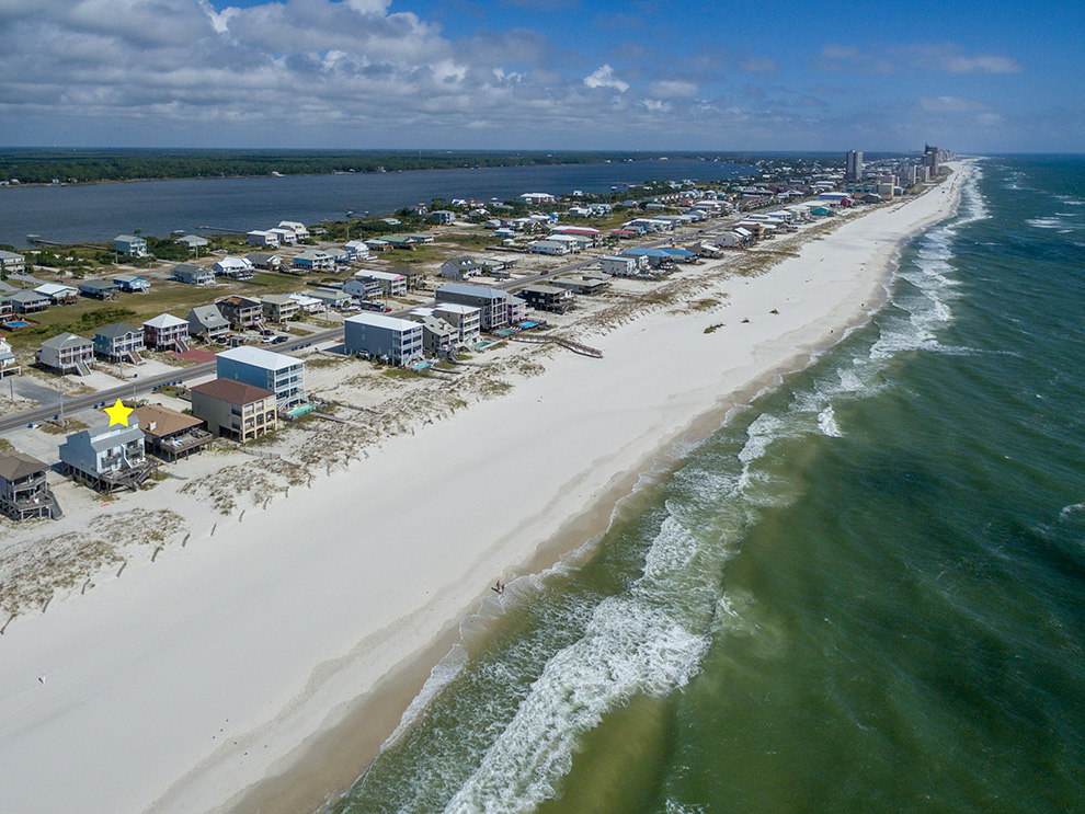gulf shore aerial photographer drone